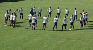 allenamento squadra calcio